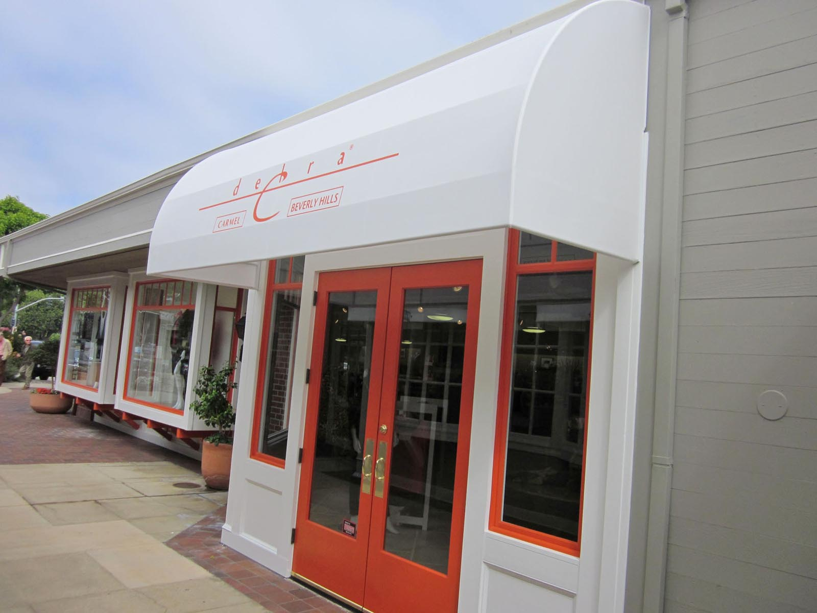 atlantic walkways canopies the entrance awning portfolio commercial installation